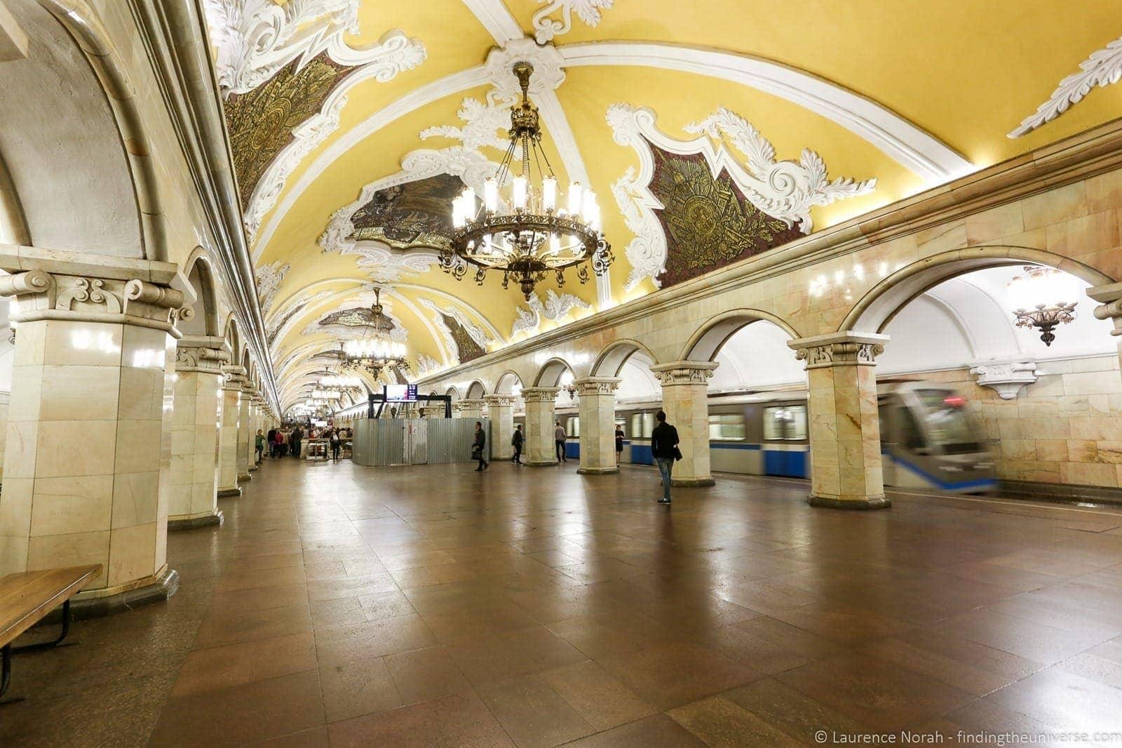 Russia river cruise Moscow tour underground subway metro 2