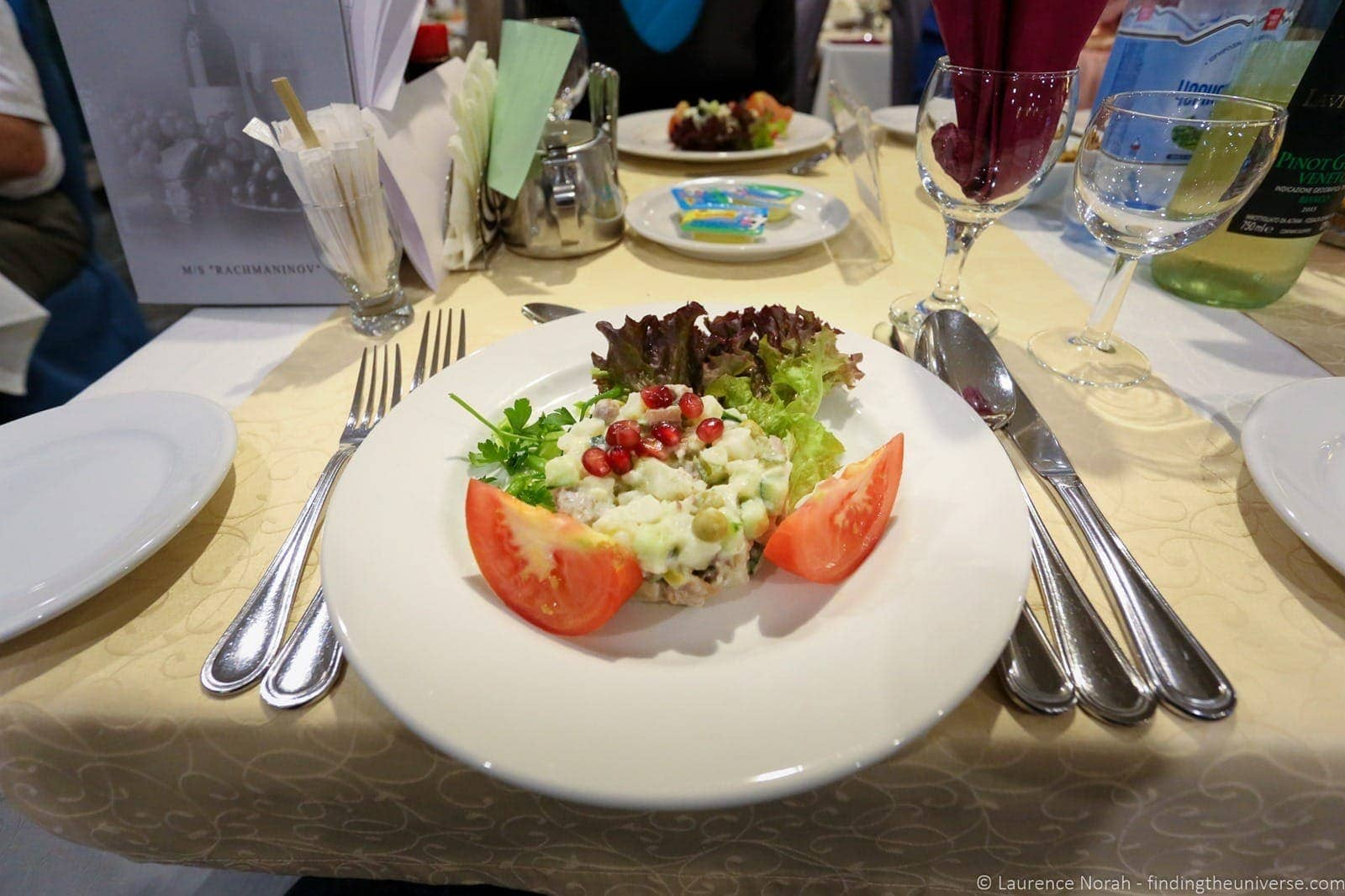 Russia river cruise food on board