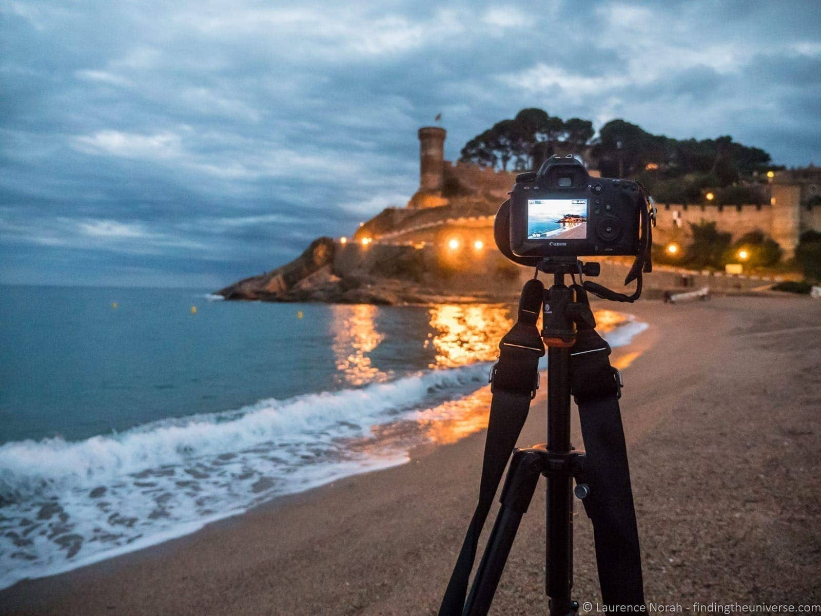 Shooting Tossa de Mar castle at night with Vanguard