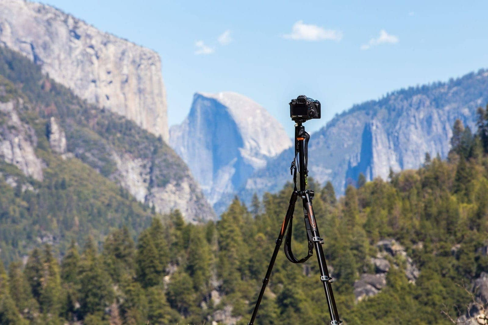 Vanguard tripod view of Half Dome