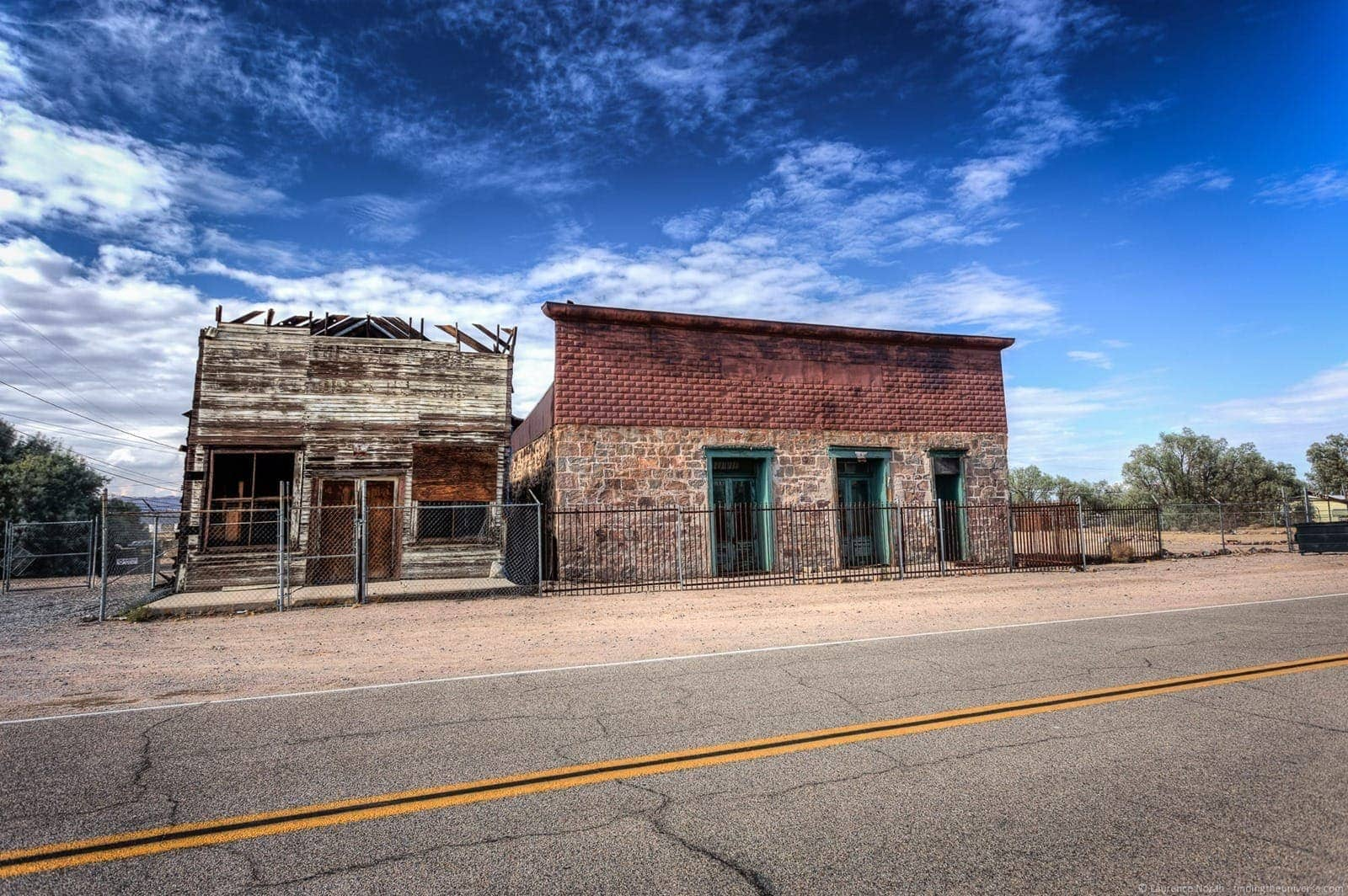 Abandoned buildings Route 66 California