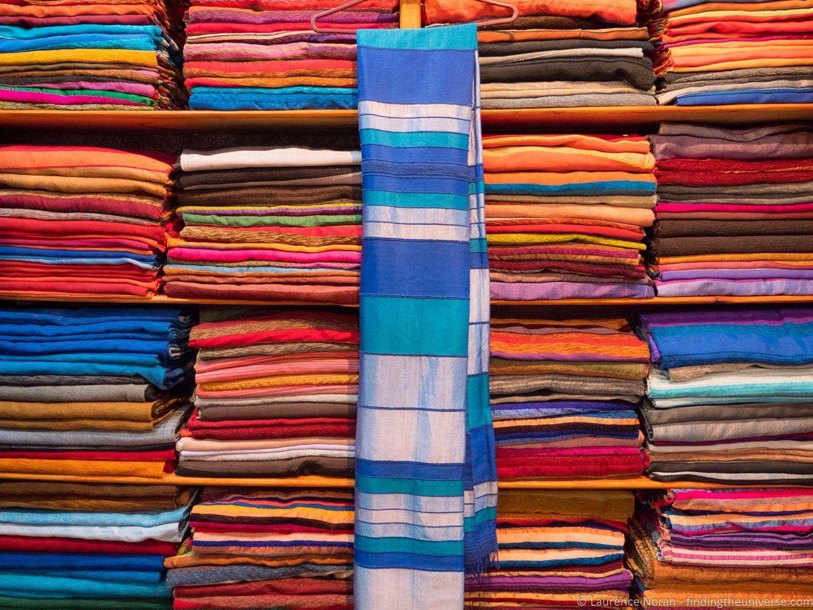 Colorful scarves Fez Morocco