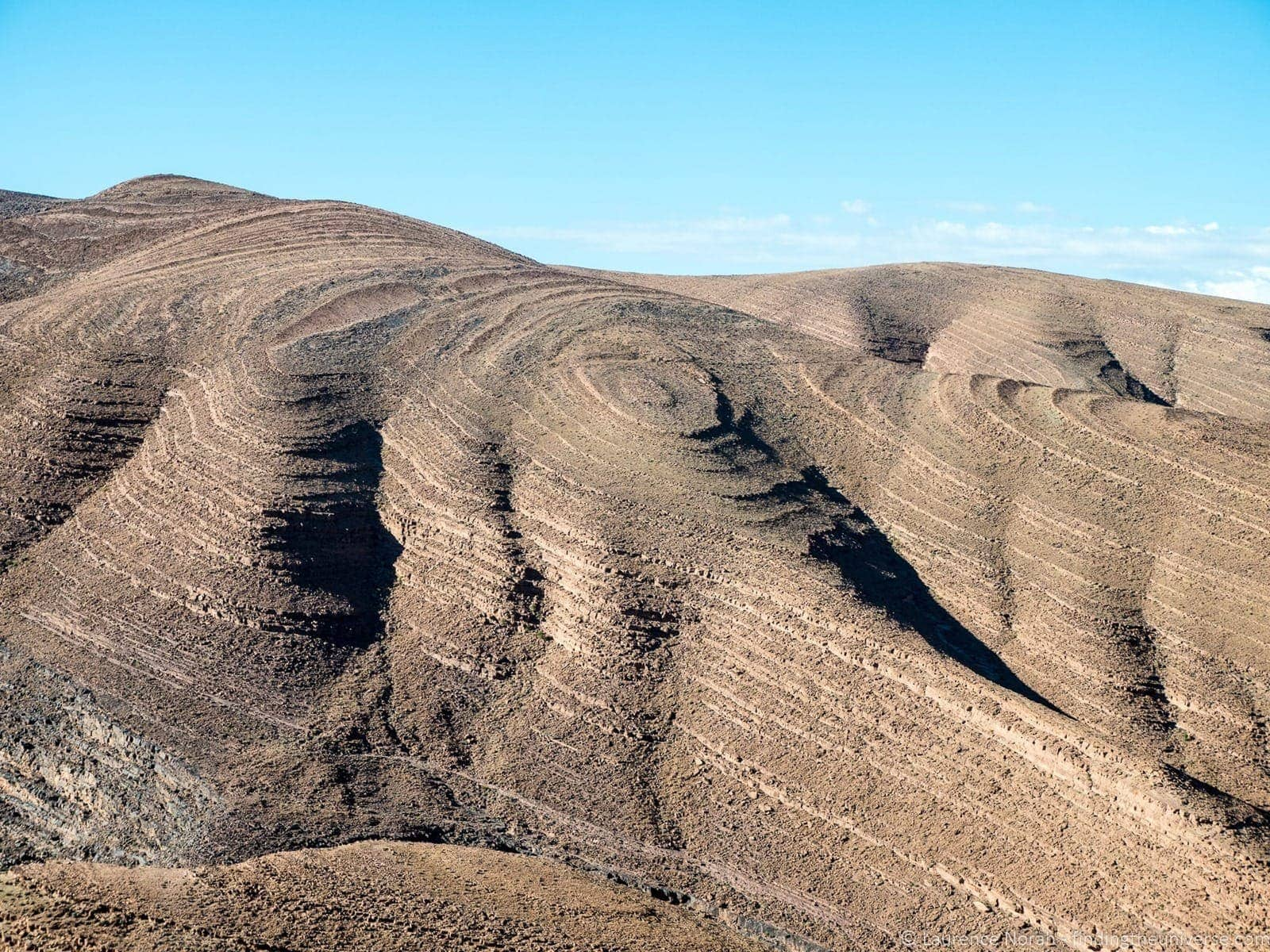 Contour lines in the ground Atlas Mountains Morocco