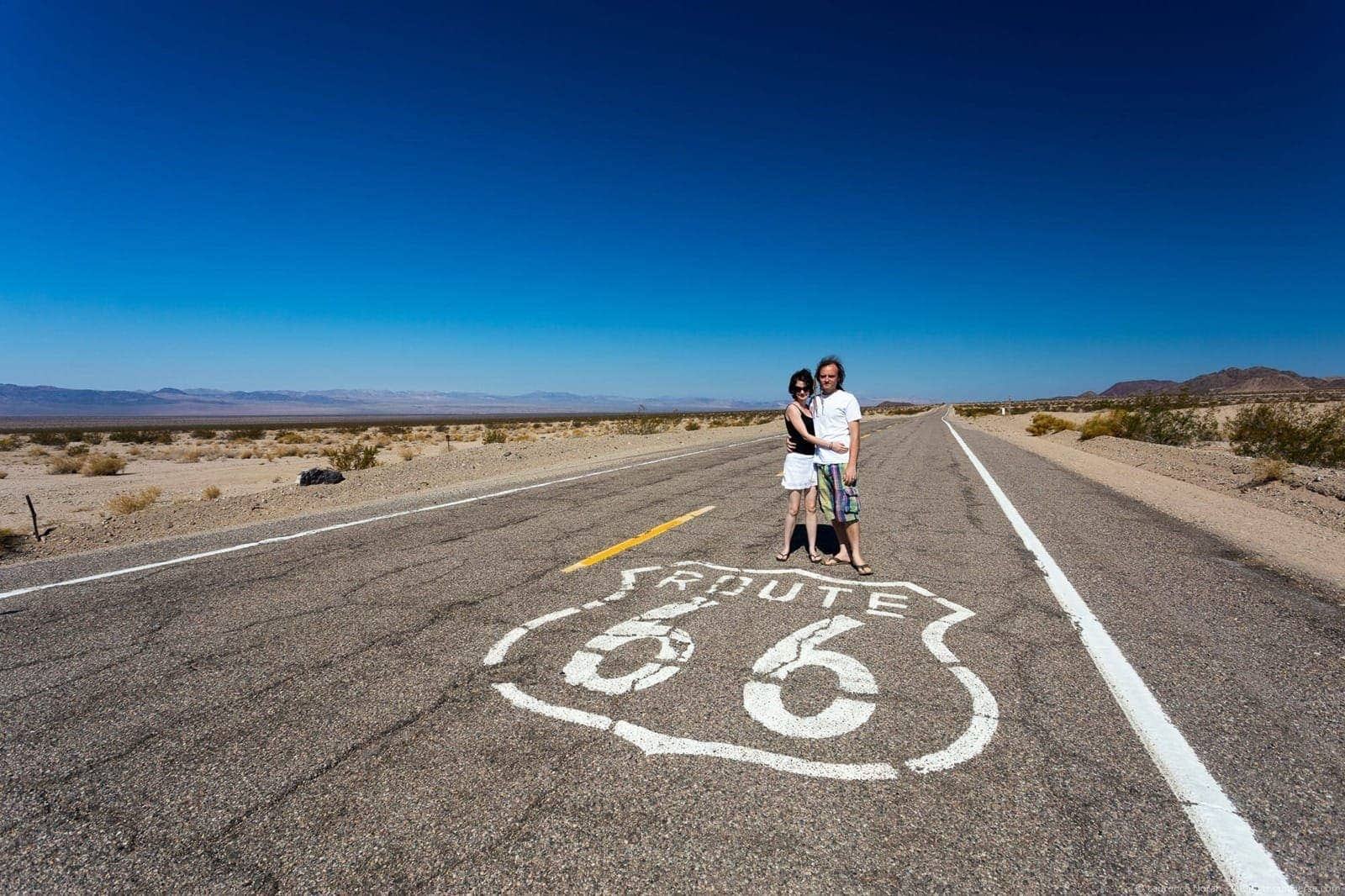 Couple Route 66 California