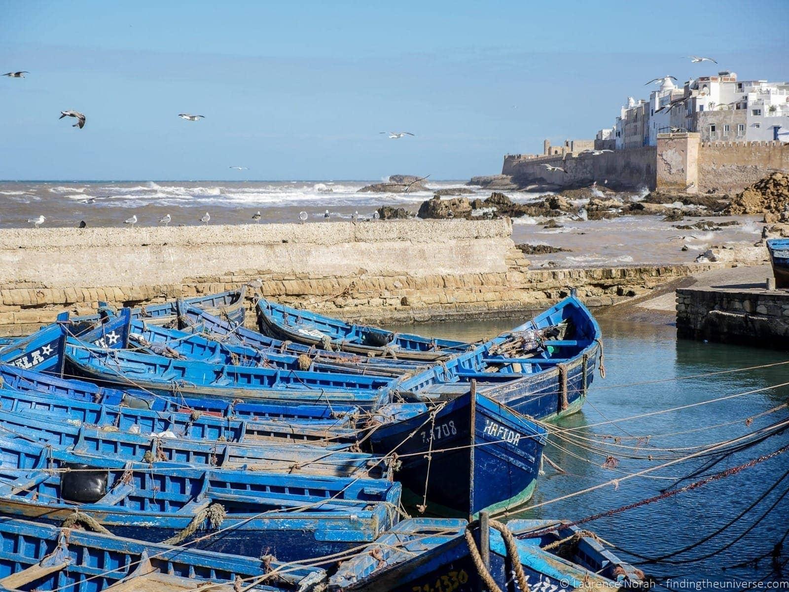 Fishing boats Essaouira game of thrones
