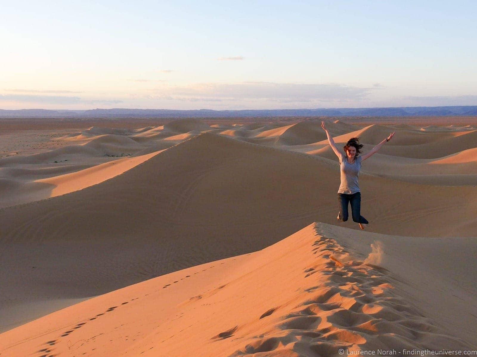 Jess in the Sahara Morocco