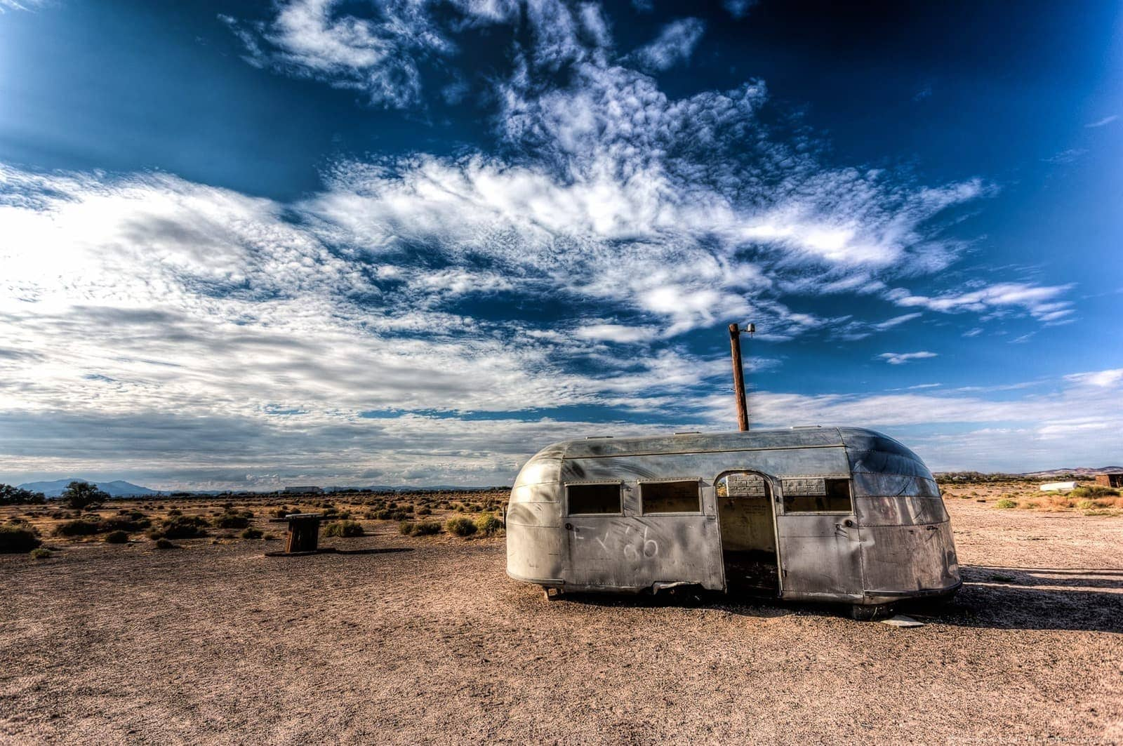 Metal airstream Route 66 California