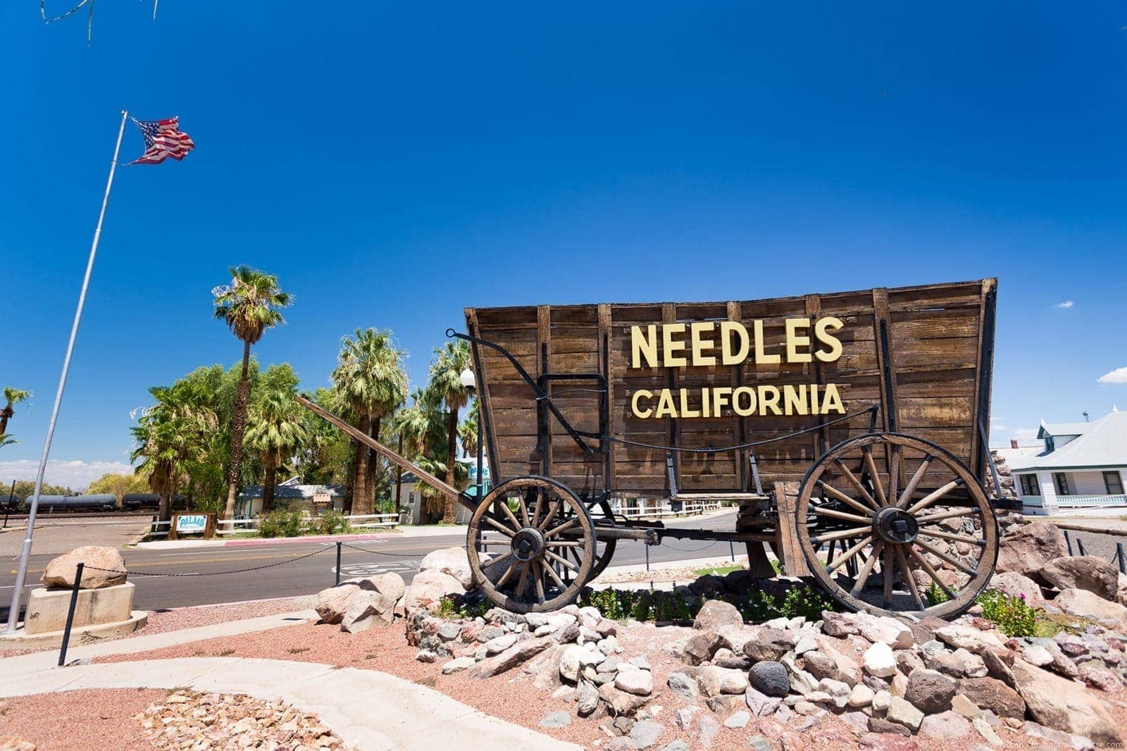 Needles wagon Route 66 California