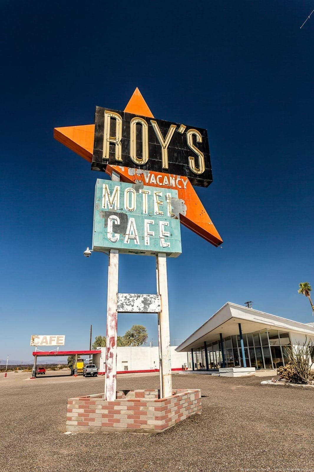 Roys cafe sign Route 66 California