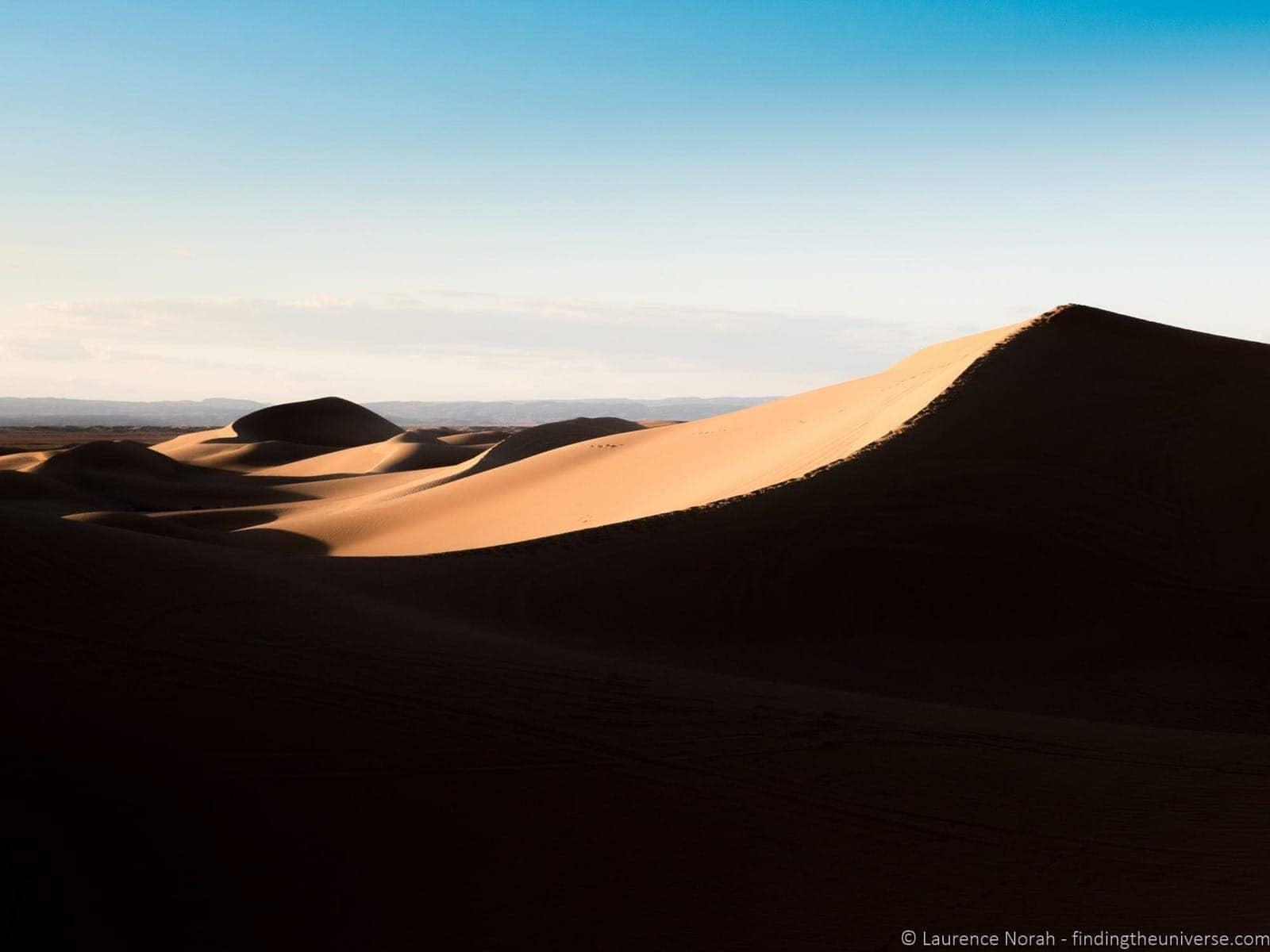 Sand dunes sunset sahara Morocco