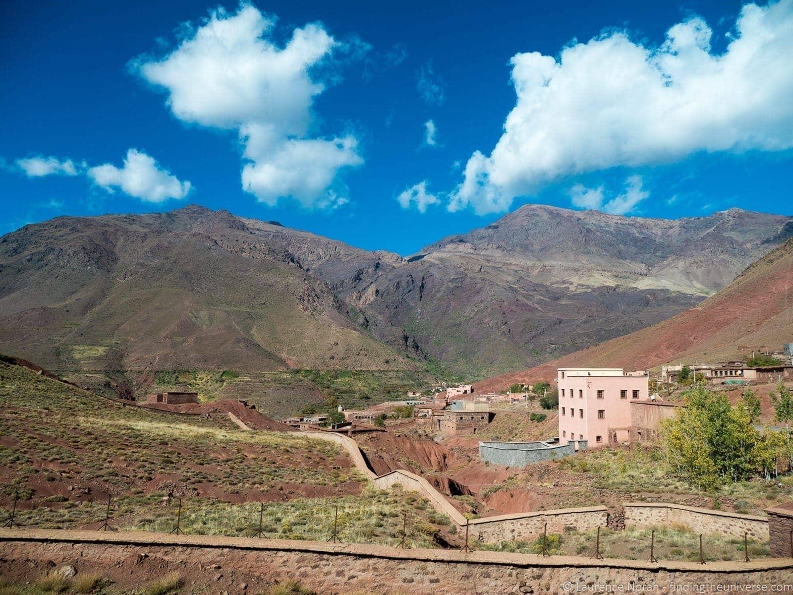 Village in the Atlas mountains Morocco