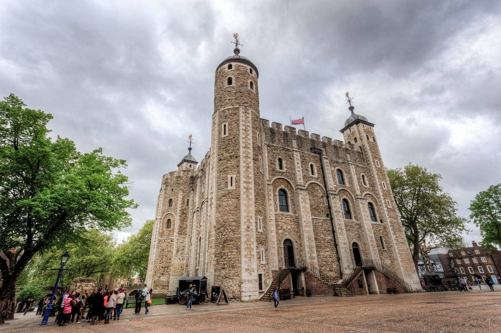 White tower in Tower of london uk