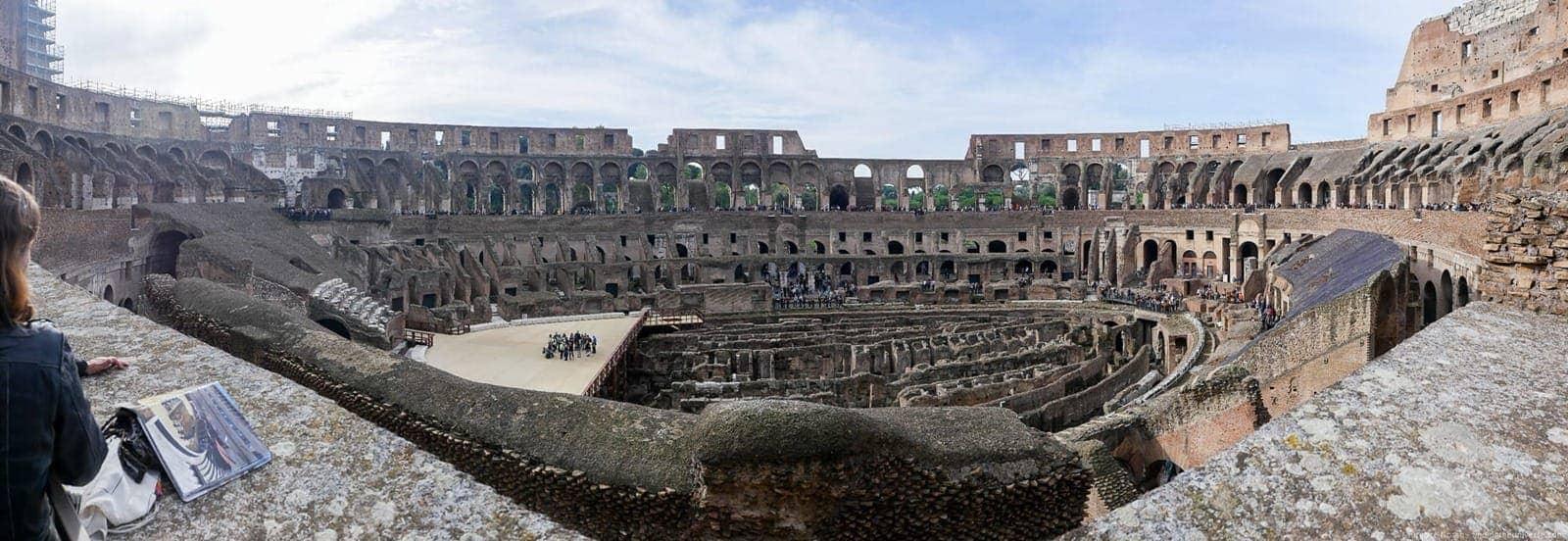 Coliseum Rome panorama interior