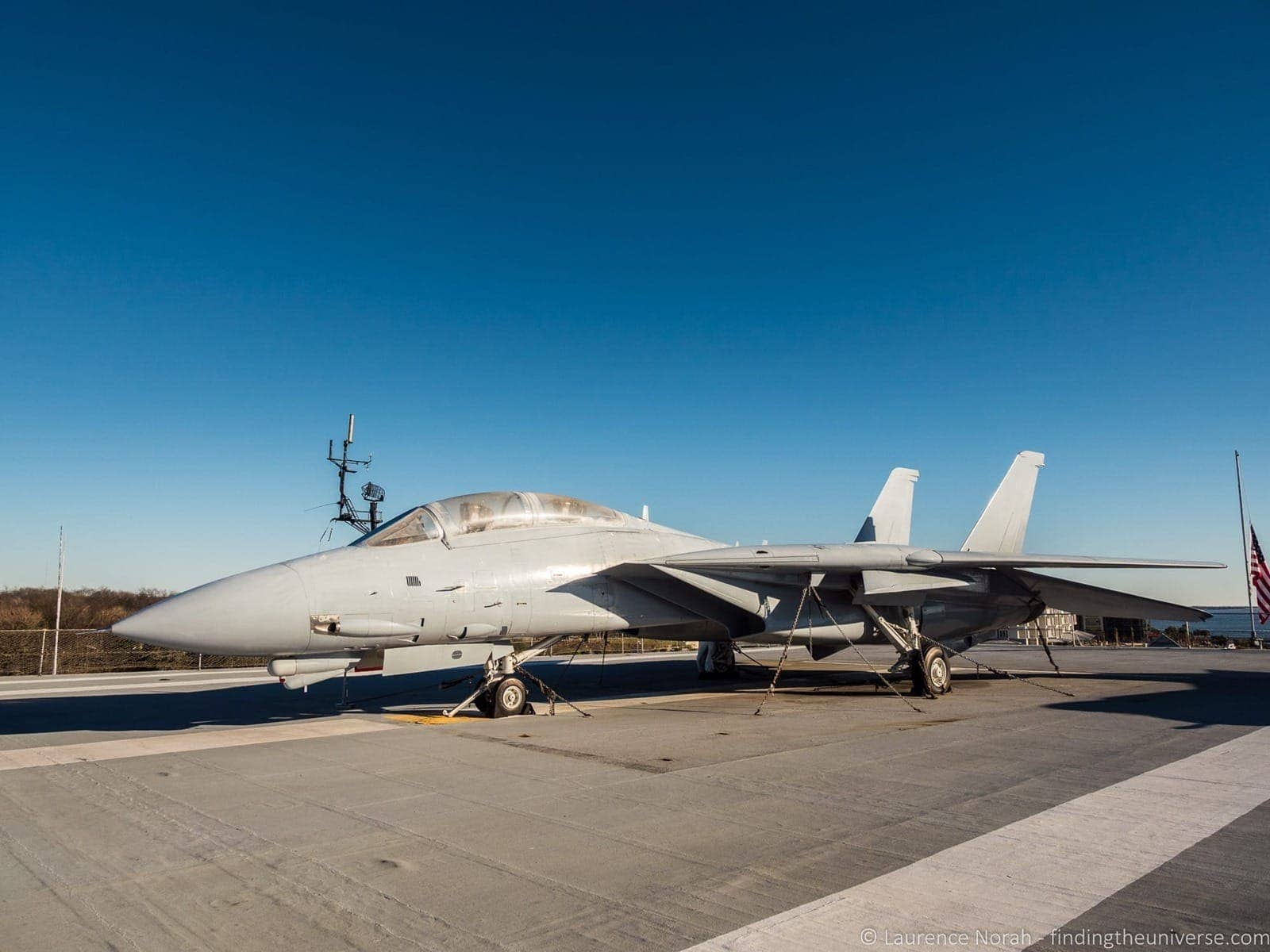 F14 Tomcat flight deck USS Charleston