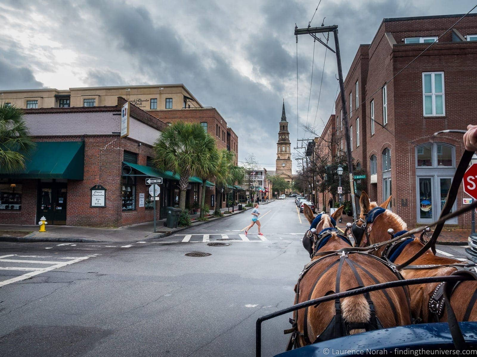 2 days in Charleston - Horse and carriage on street Charleston
