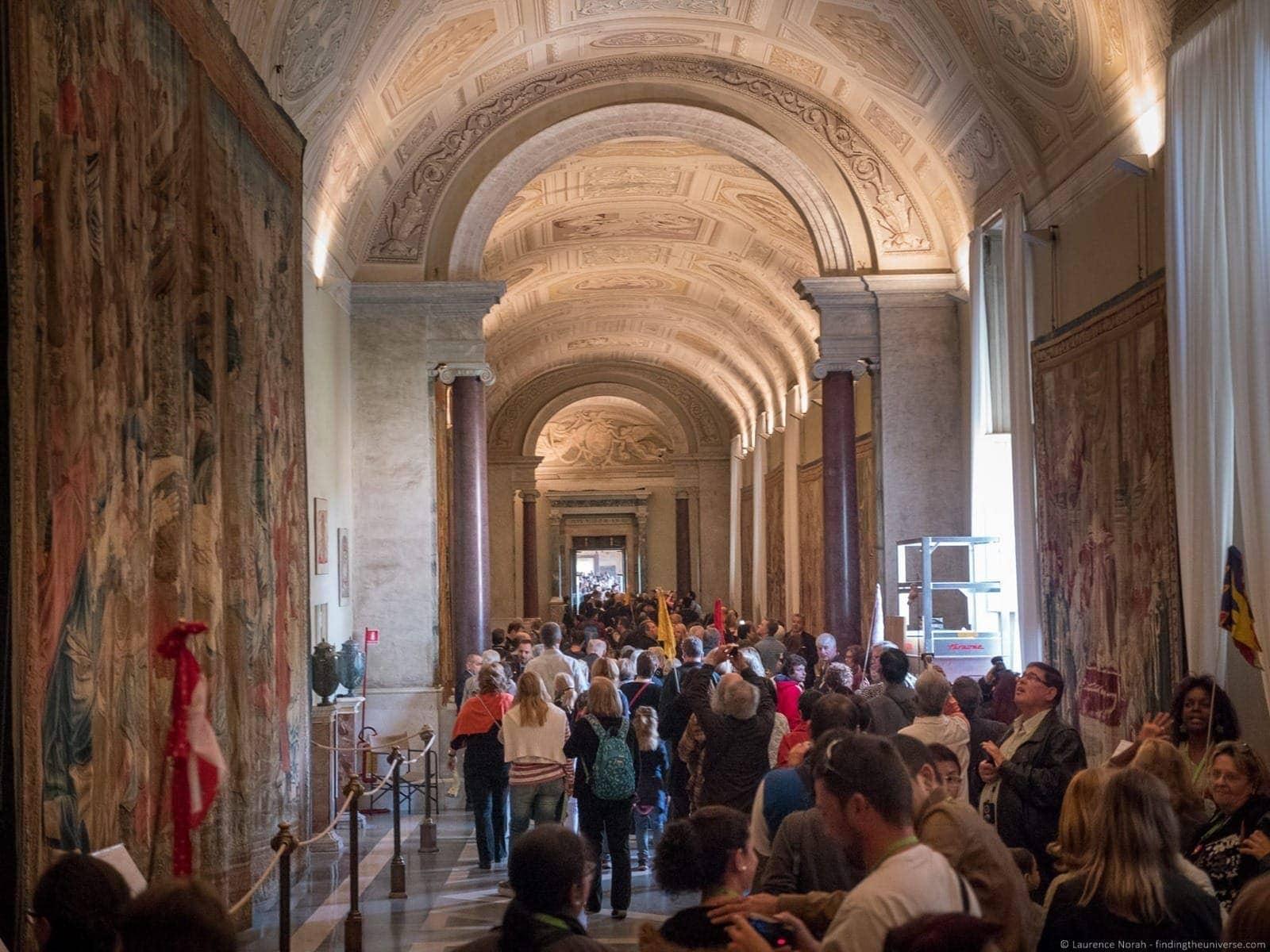 Vatican tour Pristine Sistine busy corridor