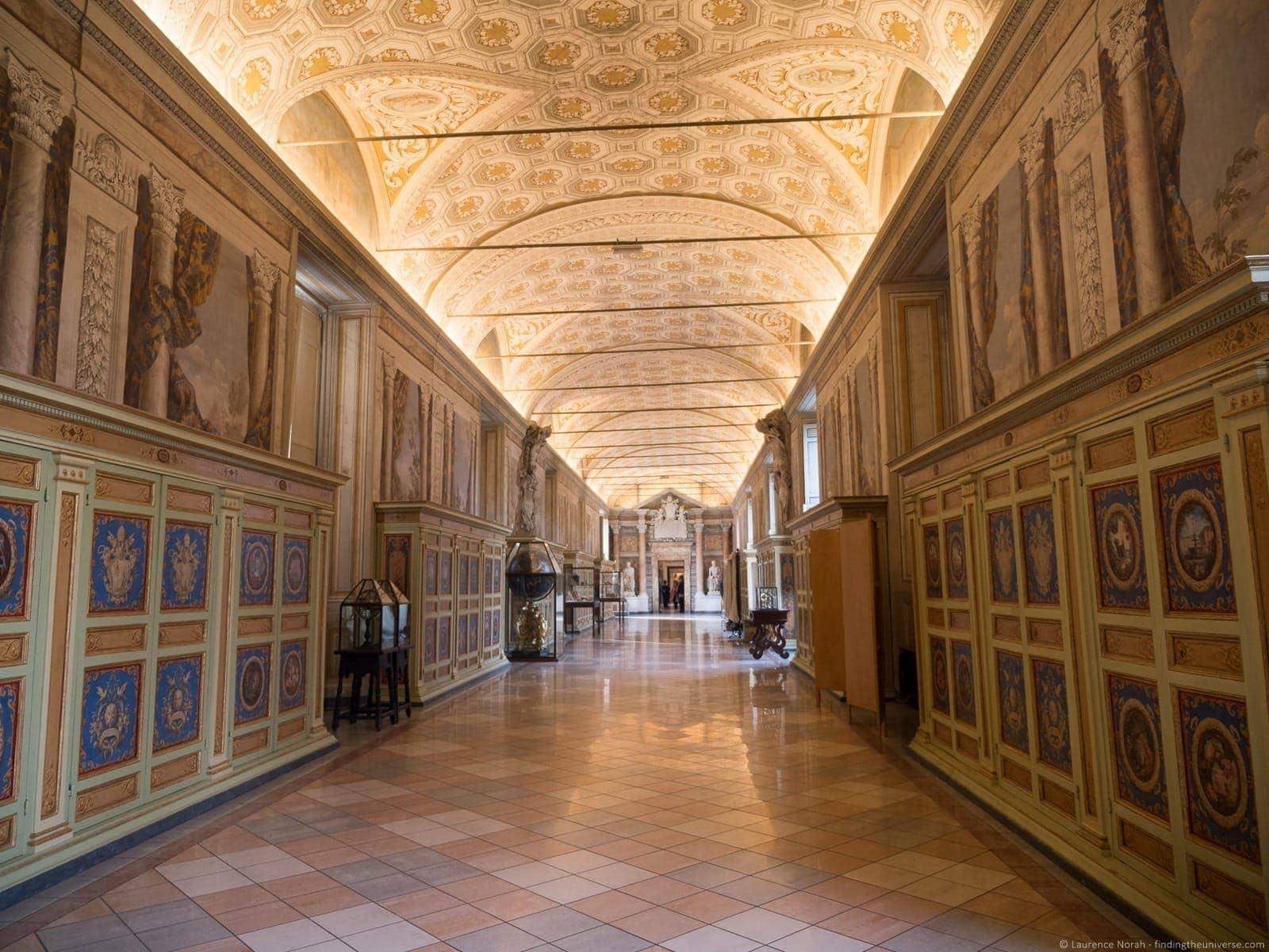 Vatican tour Pristine Sistine empty corridor 3