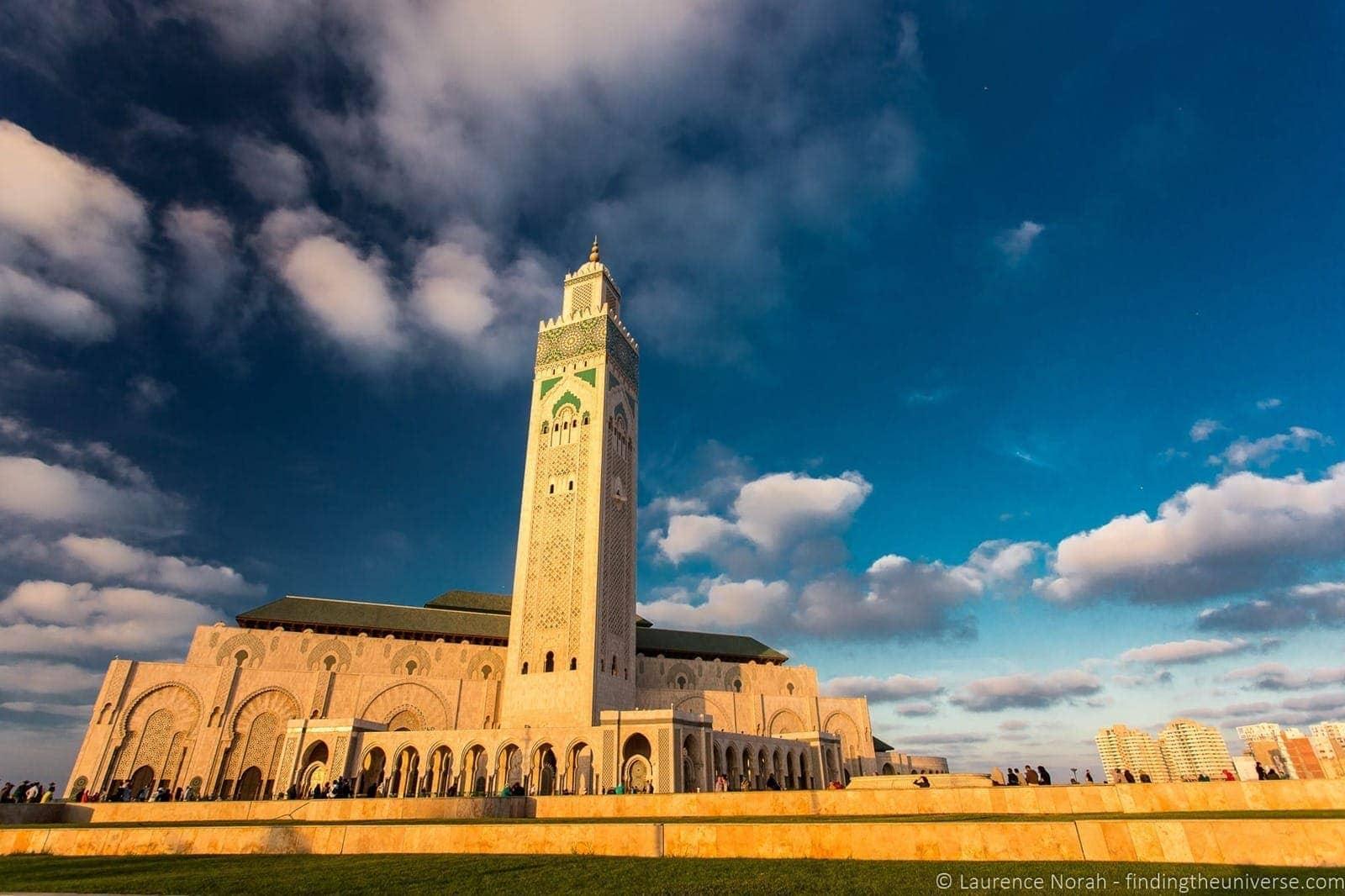 Exterior of Hassan II Mosque Casablanca Morocco 2