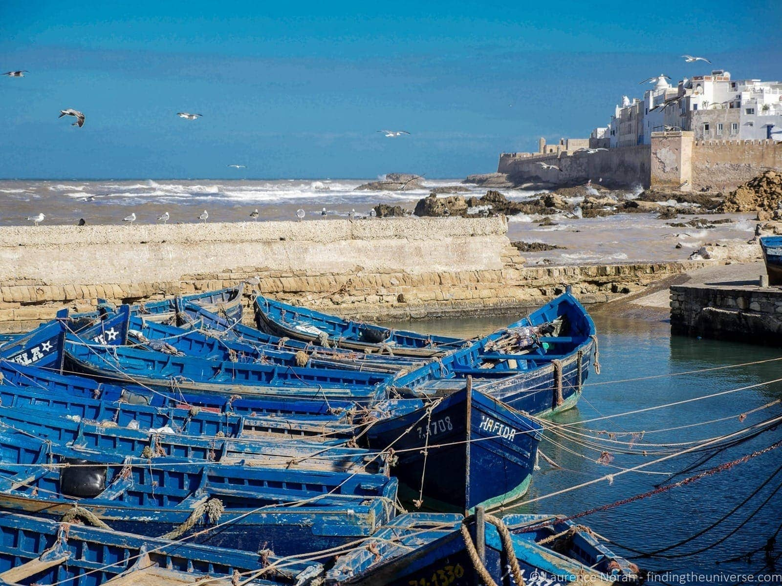 Fishing boats Essaouira game of thrones