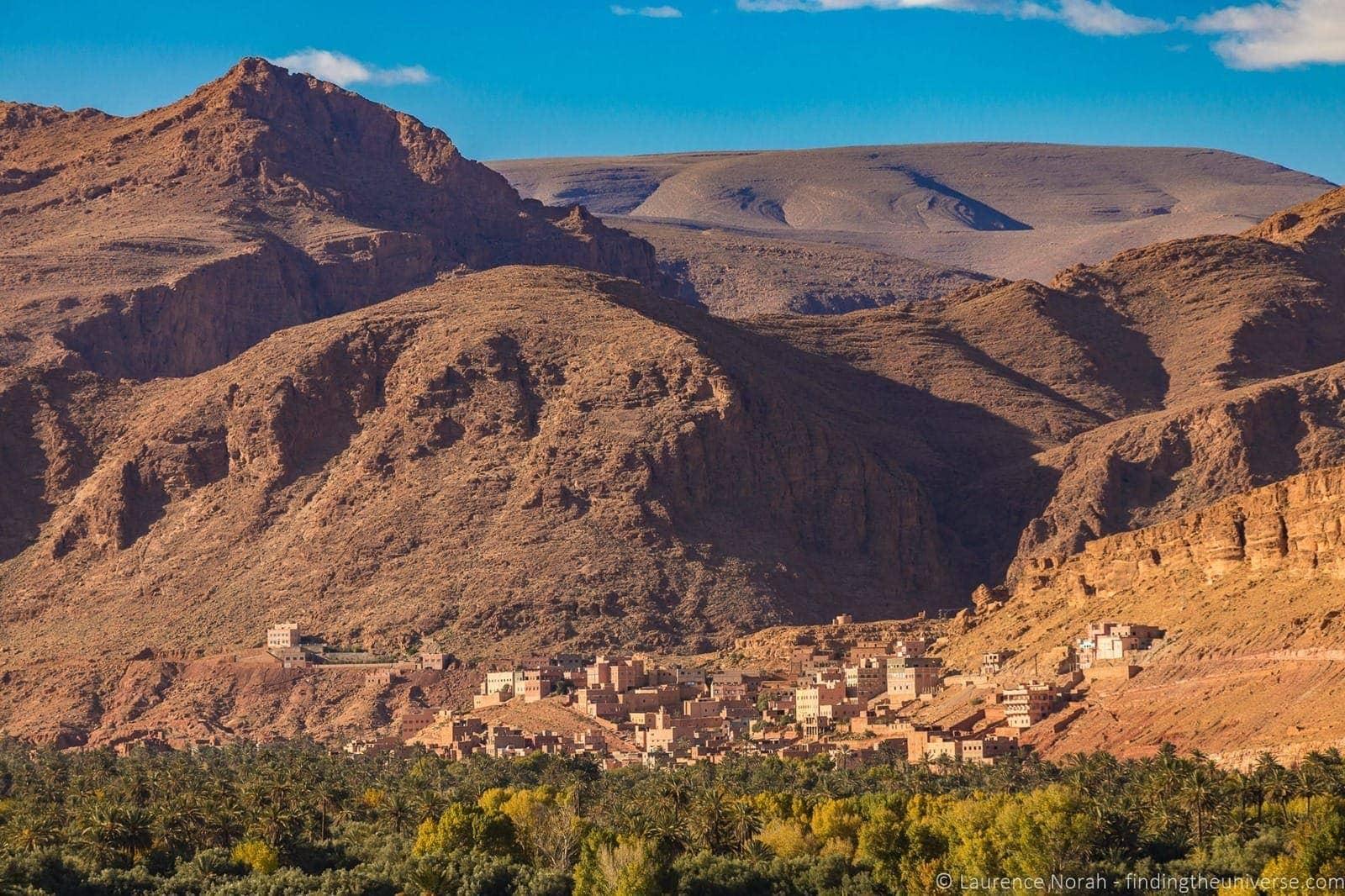 Landscape near Todgha gorge Morocco