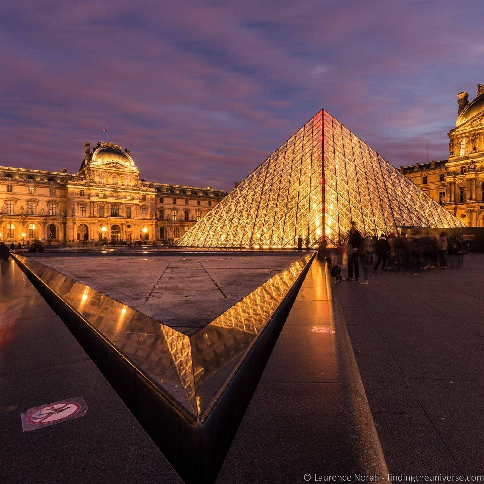 Louvre Paris Dusk