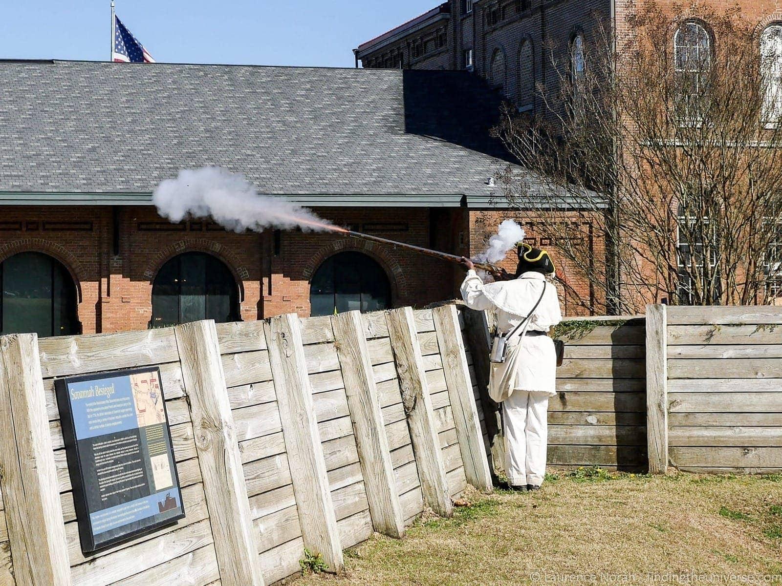 2 Days in Savannah: National History Museum Musket demonstration Savannah Georgia