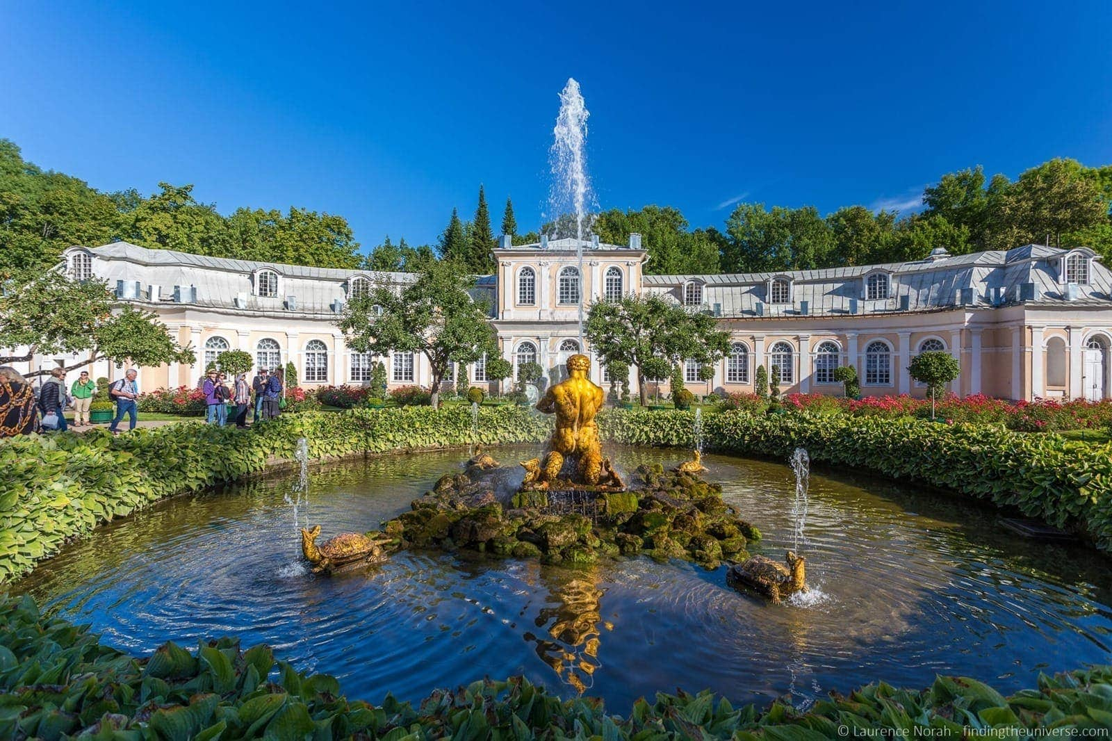 Peterhof Place fountain and orangery