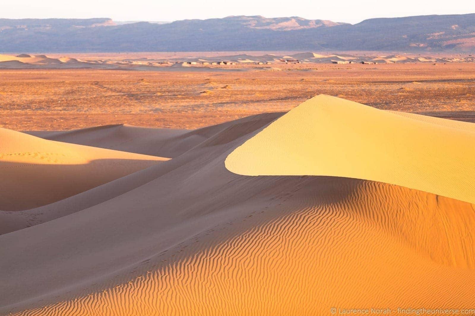 Sand dune sahara Morocco