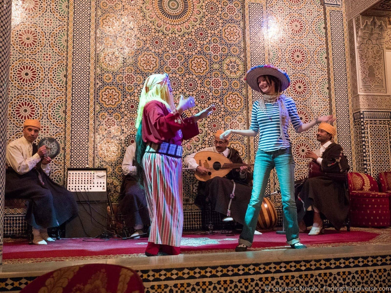 Stage show Fez Morocco
