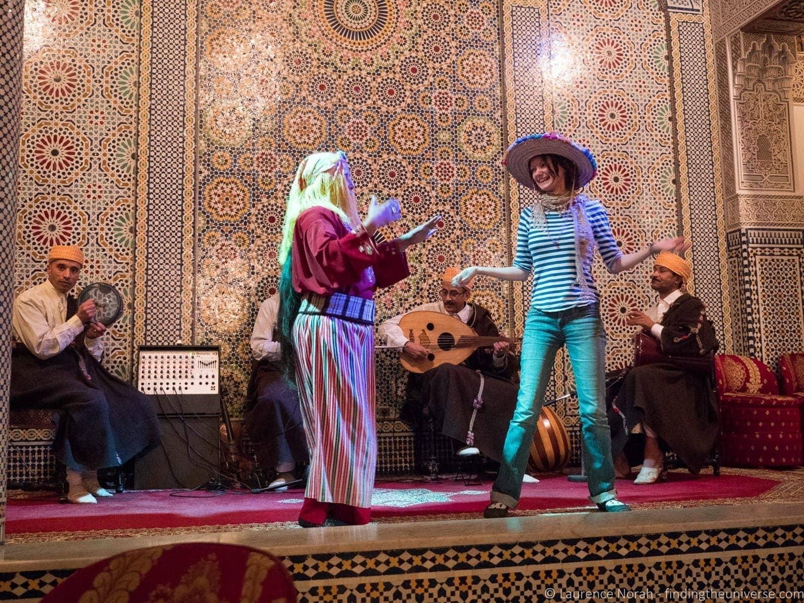 Stage show Fez Morocco