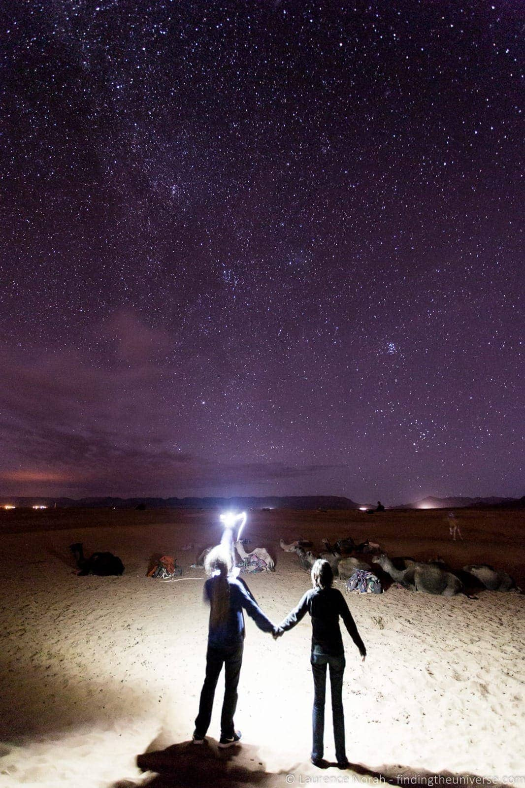 Star gazing Morocco and camels