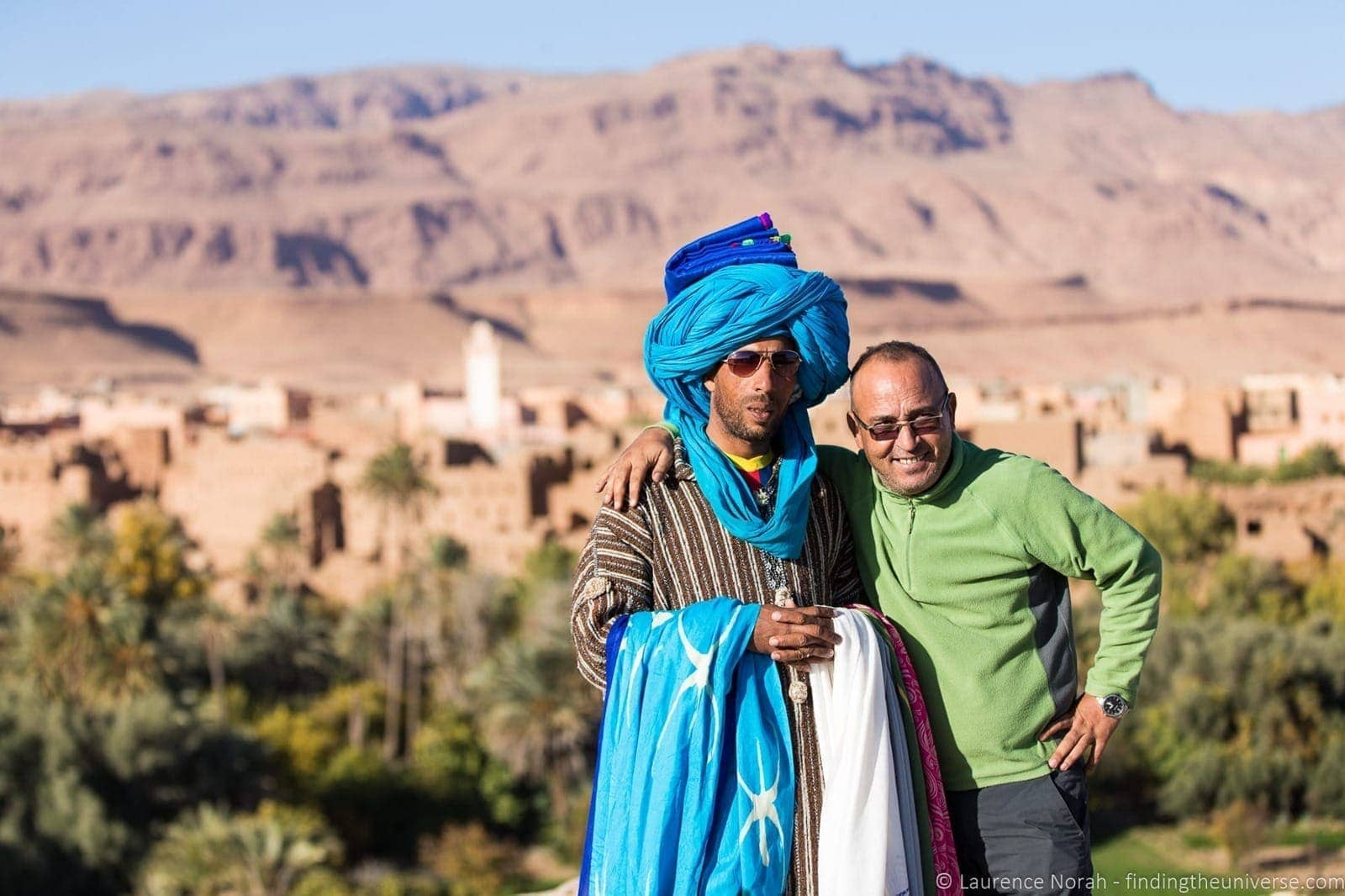 Travel talk guide and salesman Morocco