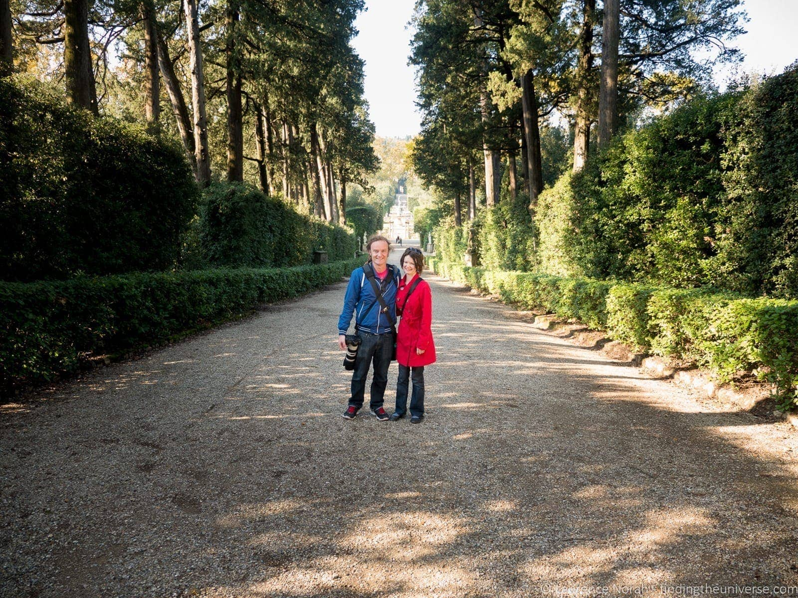 Laurence and Jess in Boboli Gardens