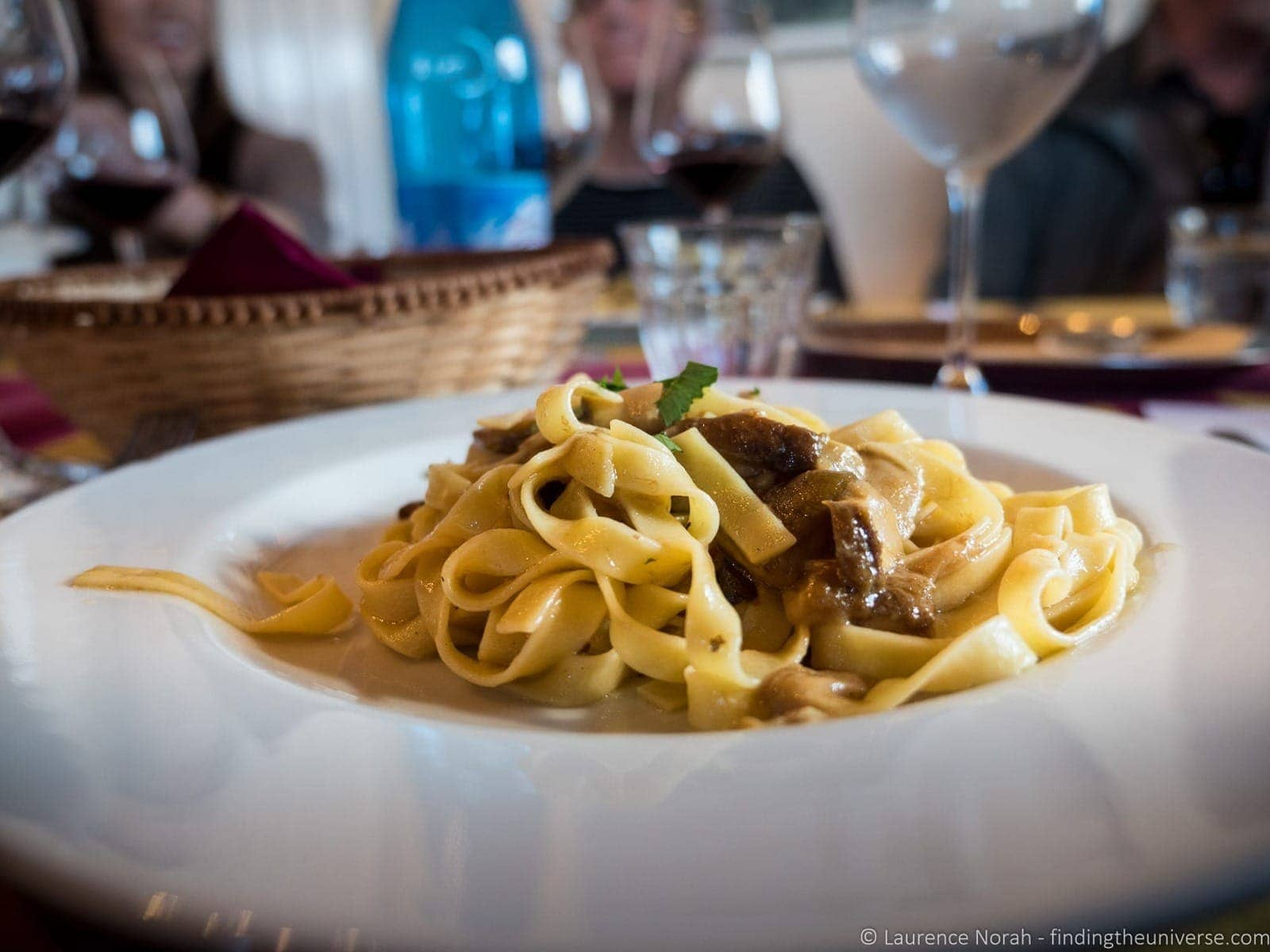 Pasta with mushrooms Tuscany