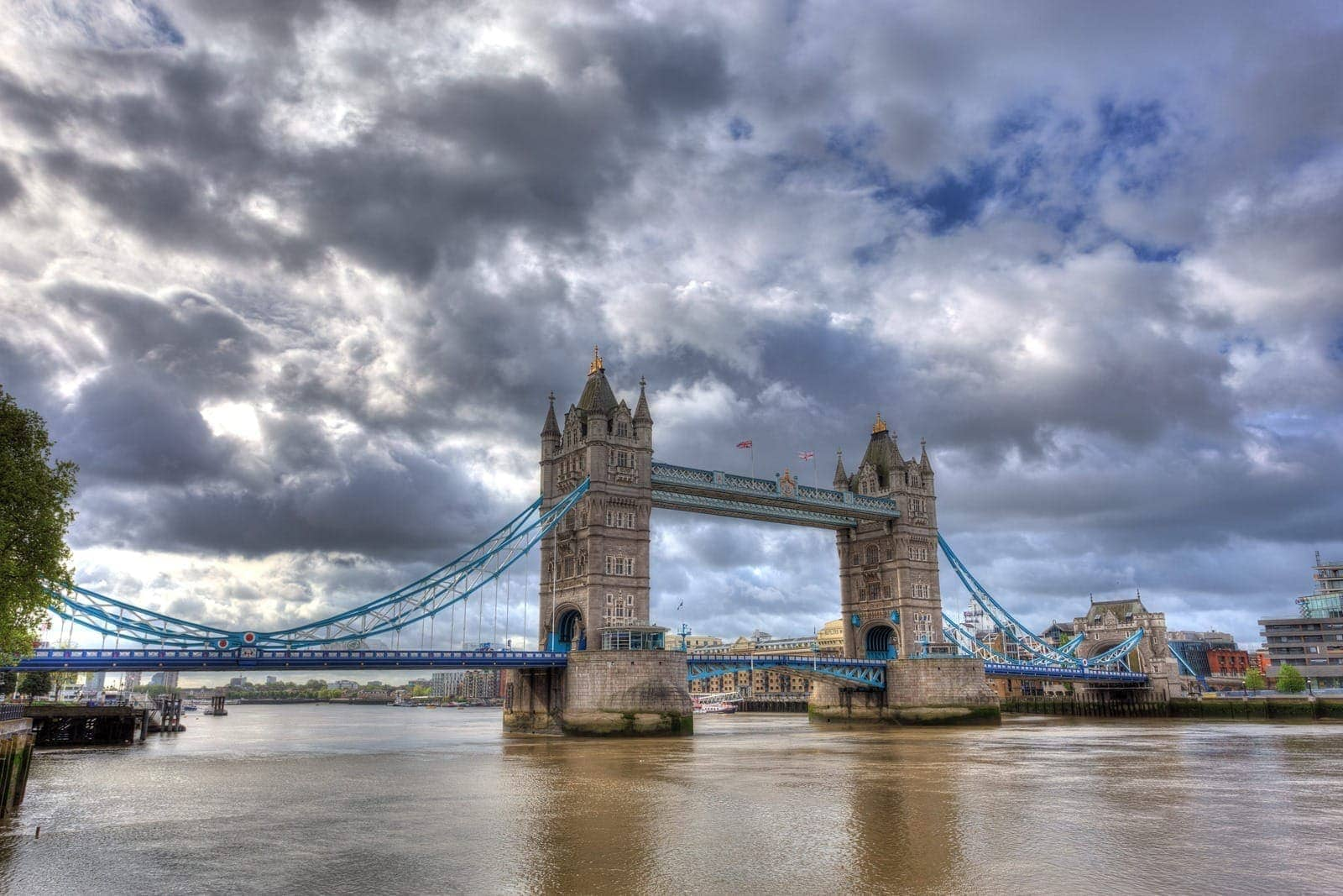 Tower bridge and river Thames london uk