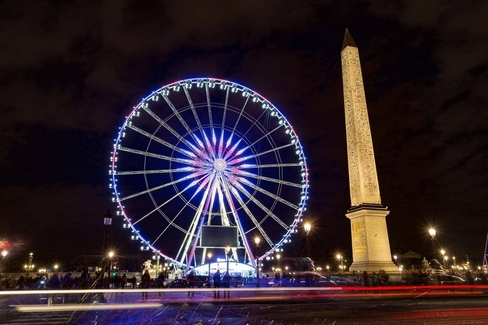 Place du Concorde night Paris