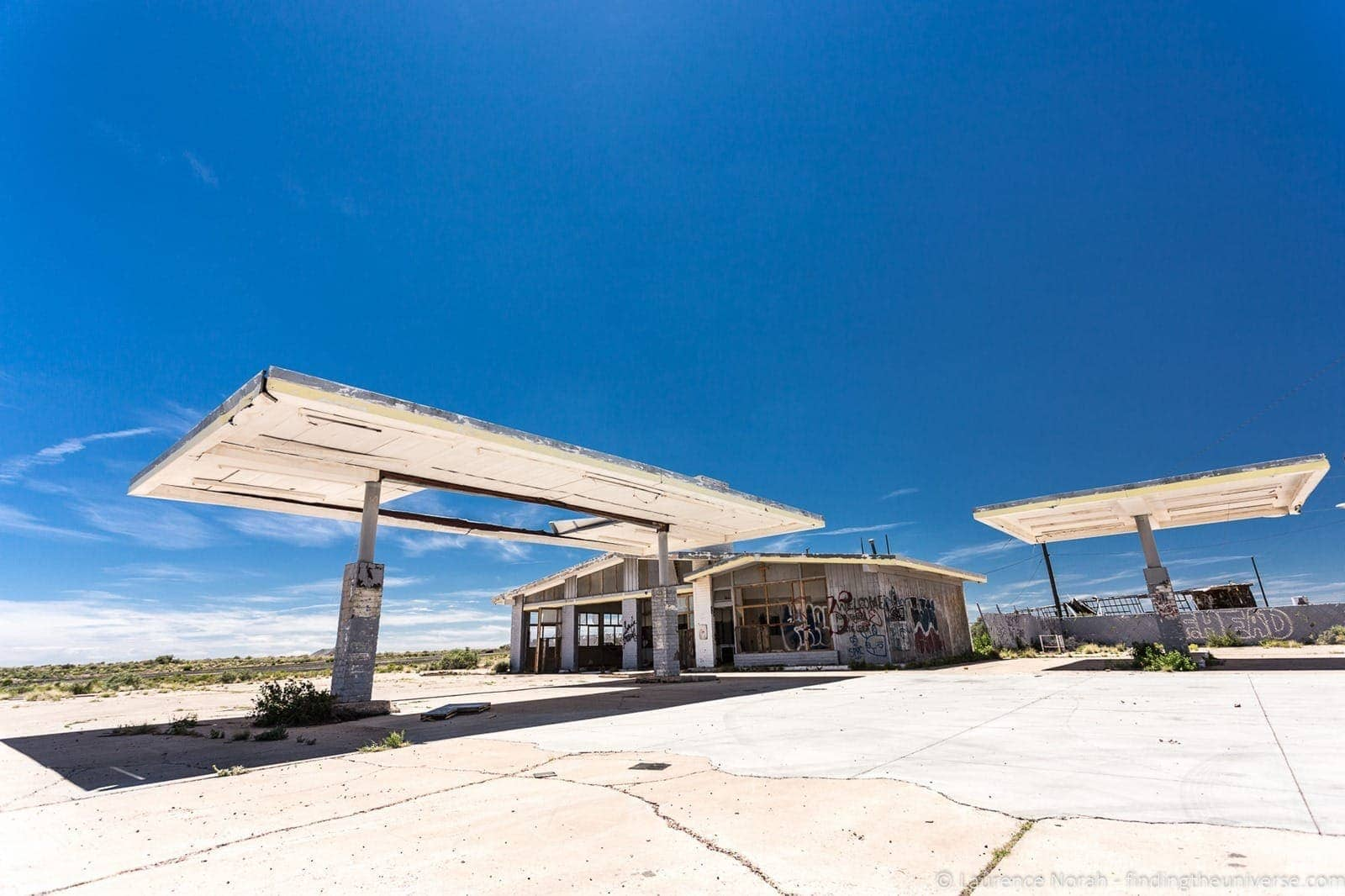 Route 66 Two Guns Abandoned Theme Park Gas Station Arizona