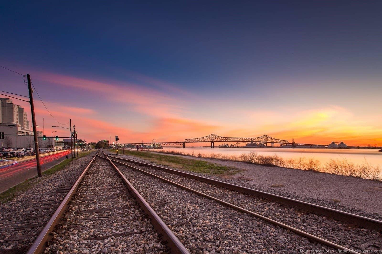 Baton Rouge sunset tracks
