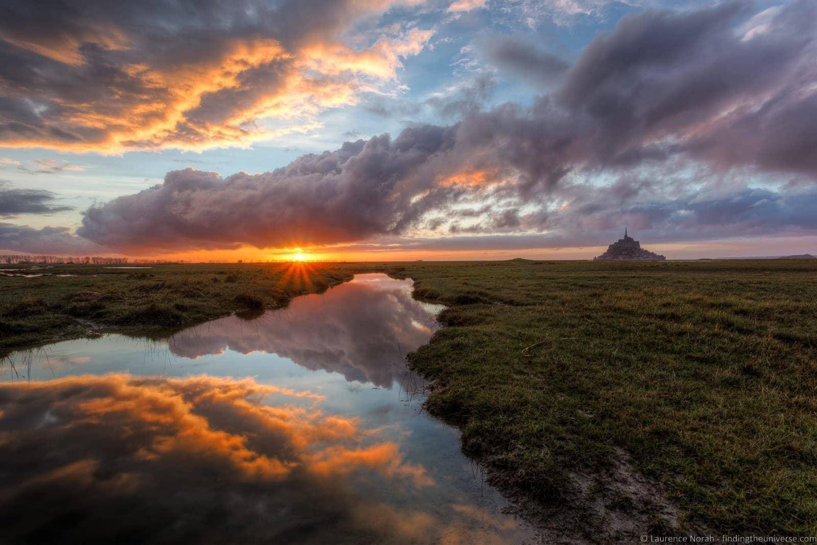 Mont St Michel sunset Vanguard