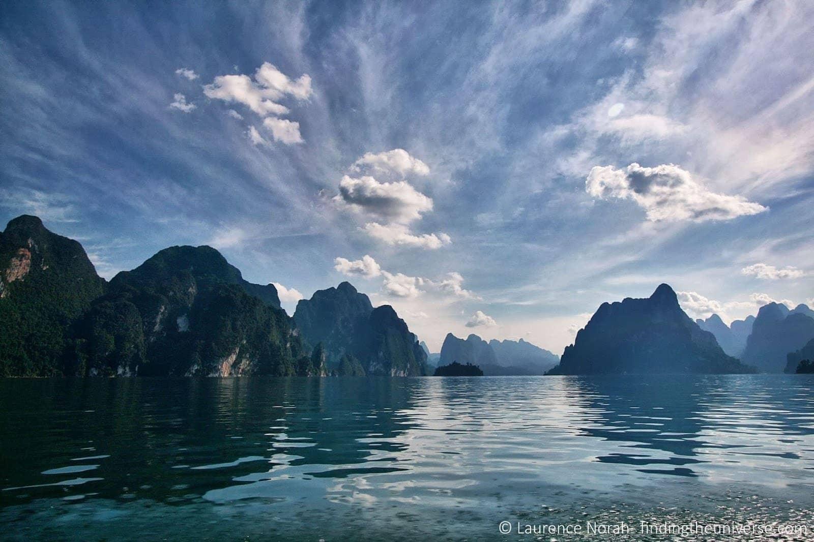 Khao sok lake reflection limestone karsts watermark scaled