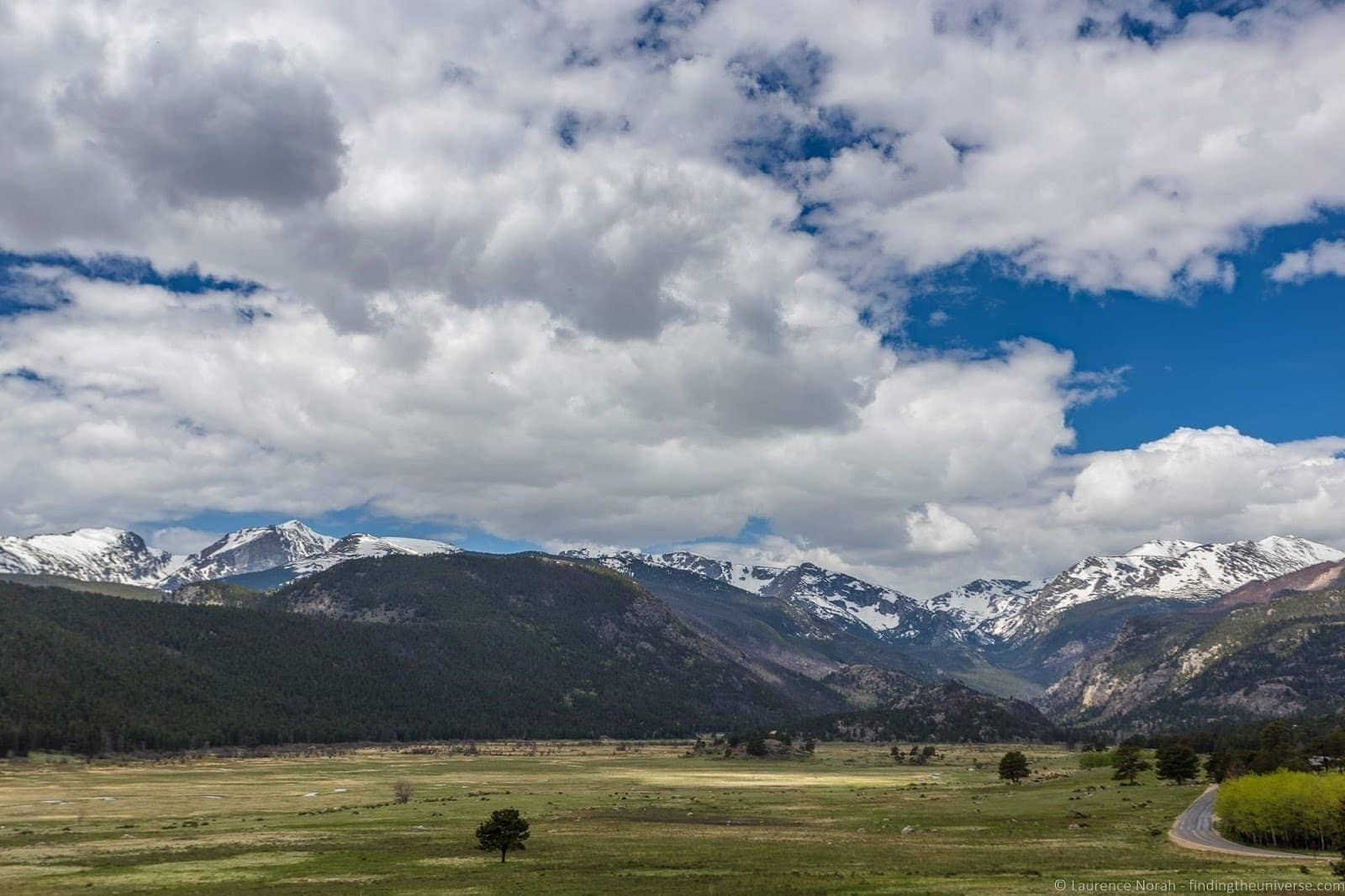 Moraine Park Road Rocky Mountain National PArk