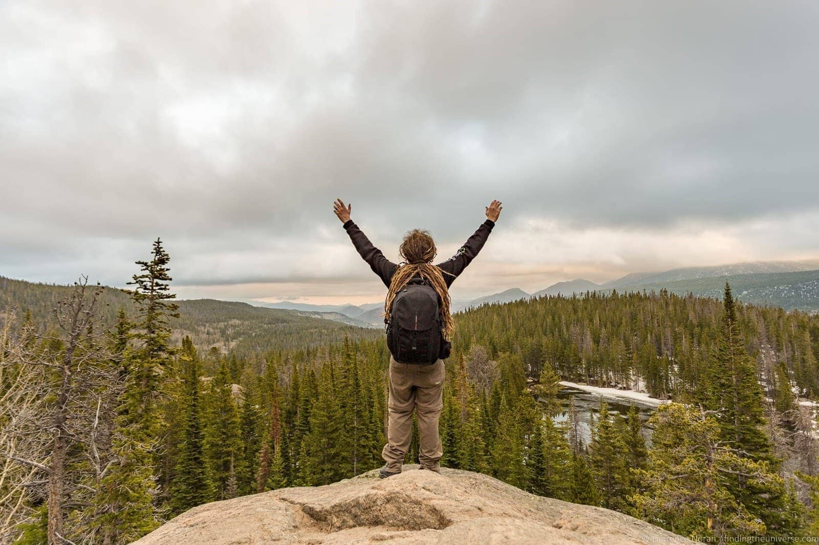Overlooking Rocky Mountain National Park Colorado