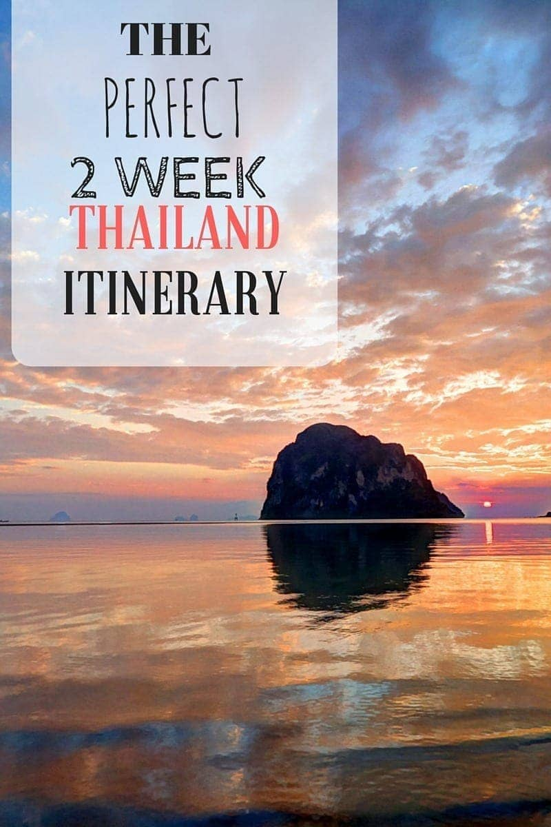 An Itinerary for a two week Thailand trip, including ideas on what to see, what to eat, where to go, how to get around, where to stay and more!