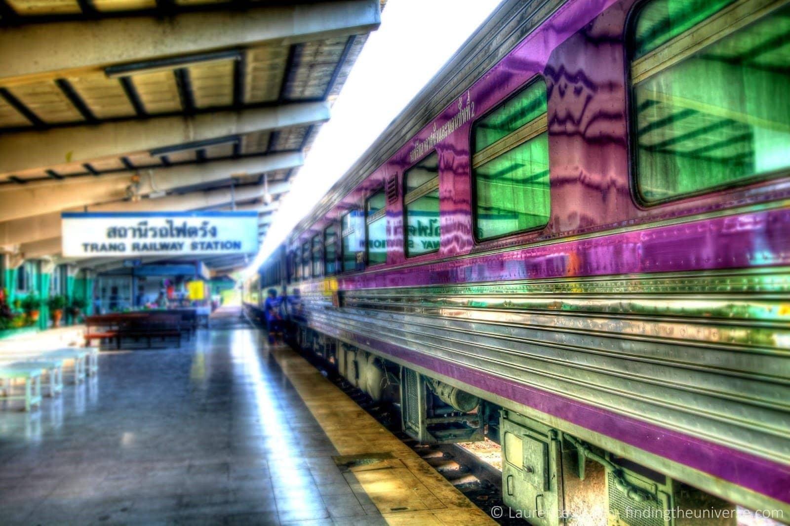 Trang train station Thailand