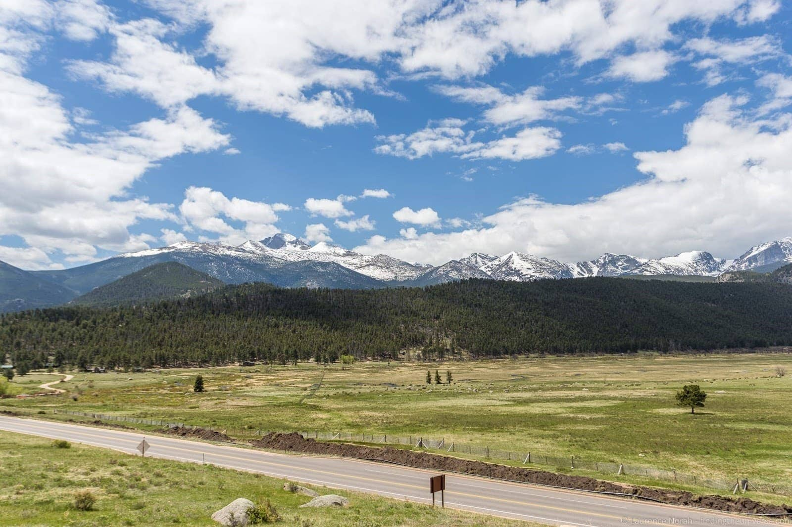 View from Moraine Park Discovery Centre Rocky Mountain National Park