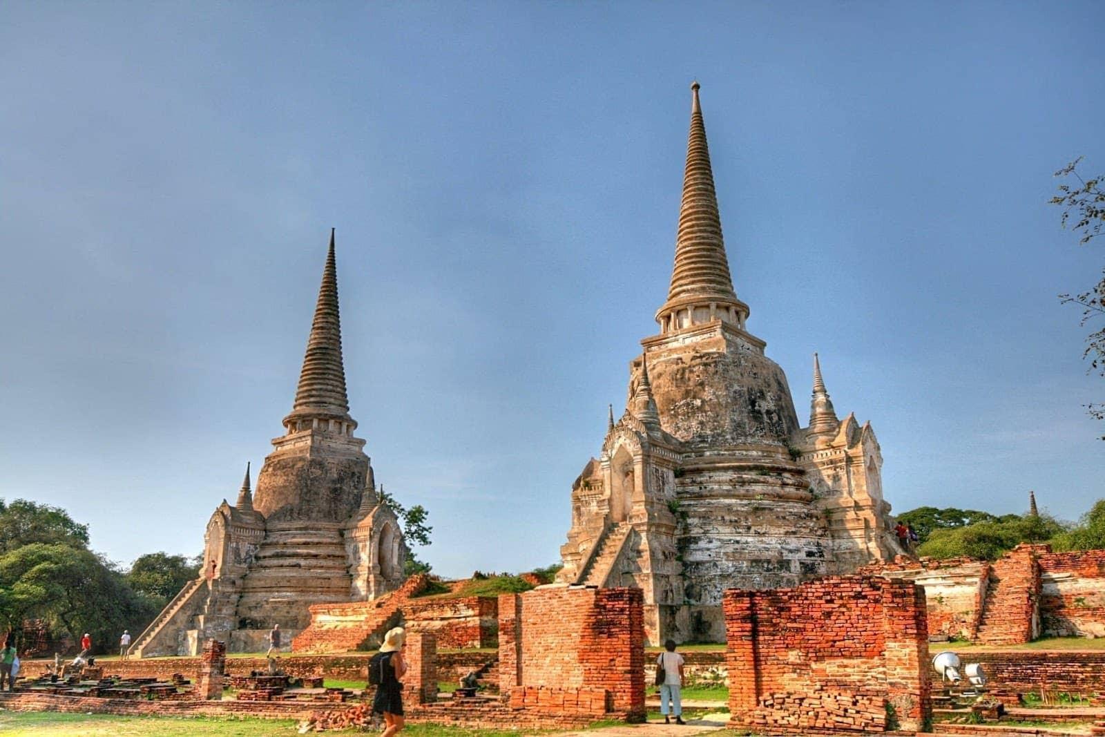 Wat Phra si Sanset The Grand Palace Ayutthaya Thailand