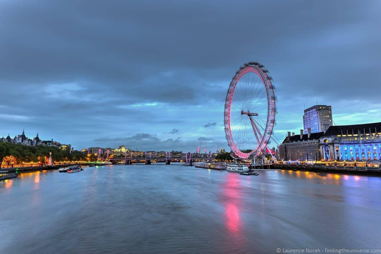 London eye blue hour long exposure landscape