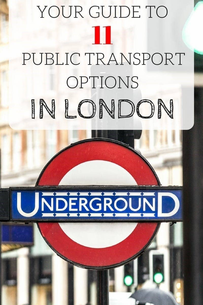 Guide to 11 of the most popular public transport options in London, including the tube, trains, buses, bikes and more!