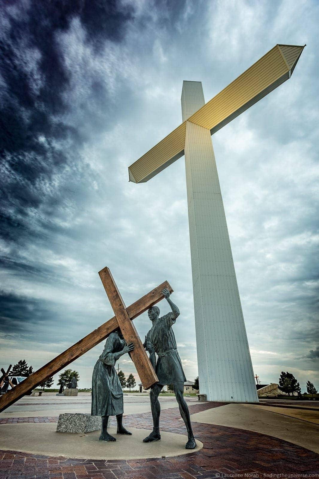 Route 66 Texas Giant Cross Groom