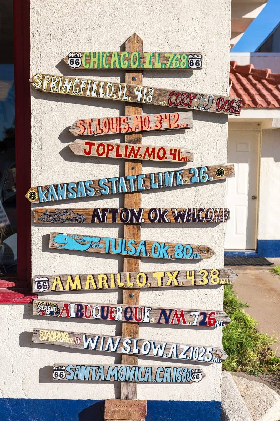 Direction sign Atton Route 66 Oklahoma_by_Laurence Norah